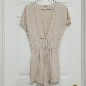 Victoria's Secret Metallic Beige Sleepwear Romper